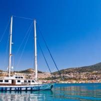 Boat, Coastline, Samos Island, The NOrthern Aegean Islands, Greece