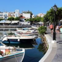 Marina, Boardwalk, Waterfront, Old Town, Agios Nikolaos, Crete, Greece