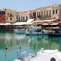 Marina, Boardwalk, Waterfront, Old Town, Rethymno, Crete, Greece