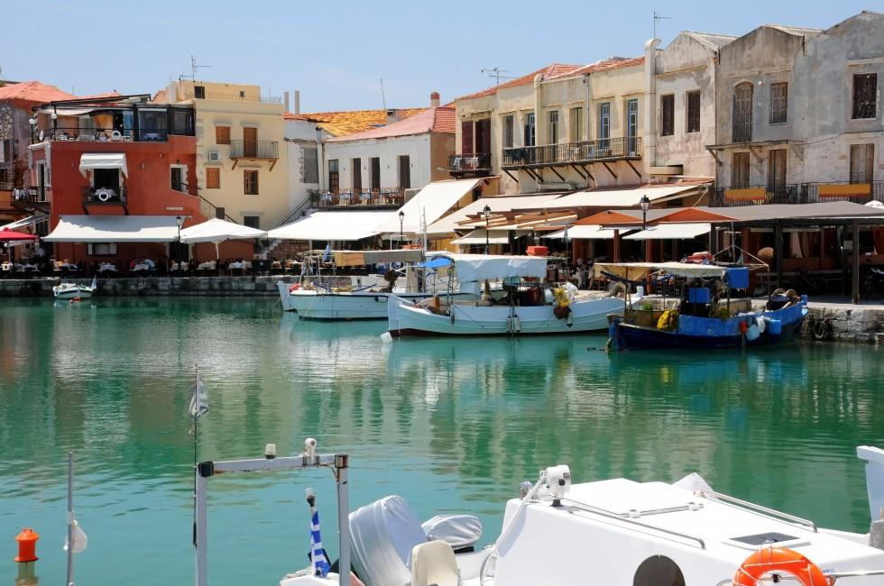 Marina, Boardwalk, Waterfront, Old Town, Rethymno, Crete, Greece