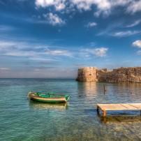 Boat, Dock, Mytiline Castle, Lesbos, The Northern Aegean Islands, Greece