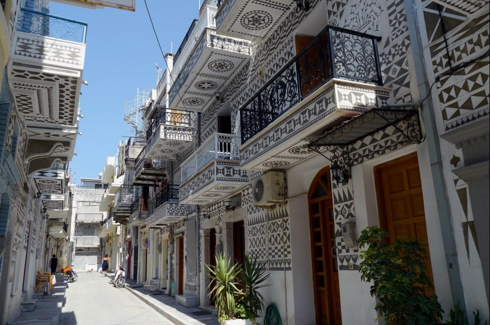 Street, Houses, Chios, The Northern Aegean Islands, Greece