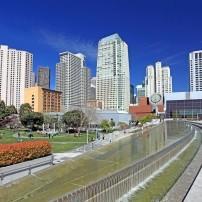 Cityscape, Yerba Buena Gardens, San Francisco, California, USA