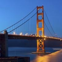 Night, The Golden Gate Bridge, San Francisco, California, USA