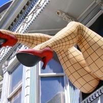 Fishnet Stocking Legs, The Haight, the Castro, and Noe Valley, San Francisco, California, USA