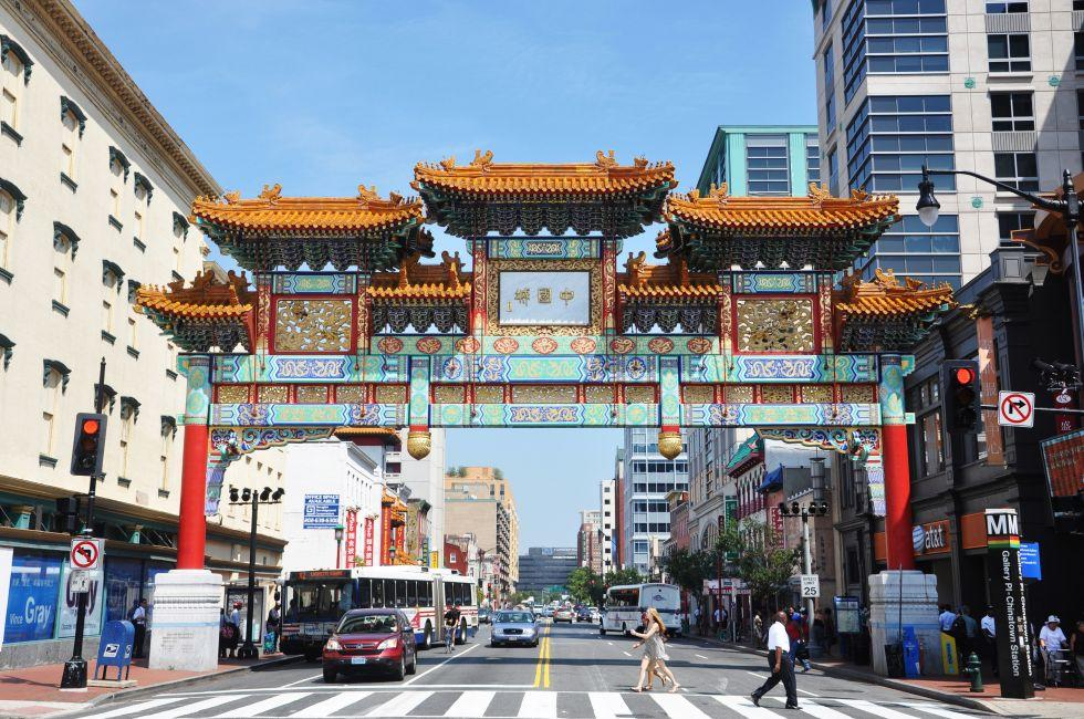The Friendship Archway, Chinatown, Washington D.C., USA.