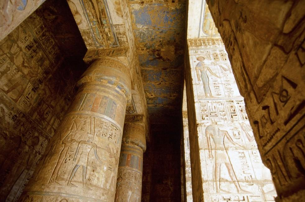 Heiroglyphs, Temple, Valley of the Dead, Luxor Egypt