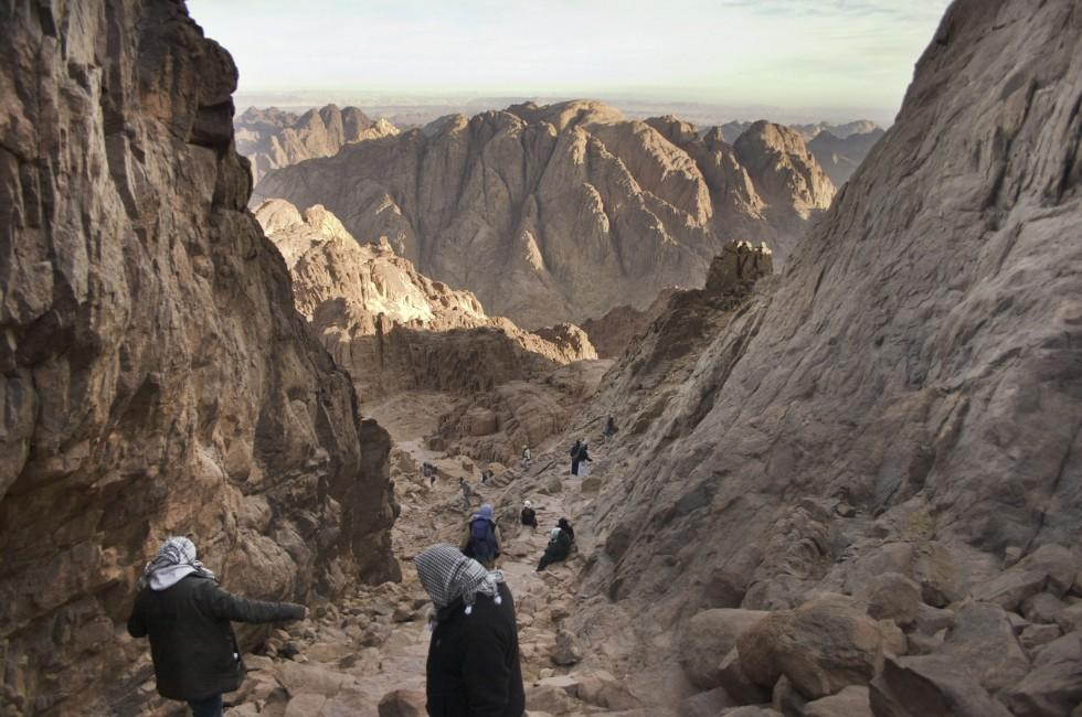 Climbing, Mount Sinai, The Sinai Peninsula, Egypt