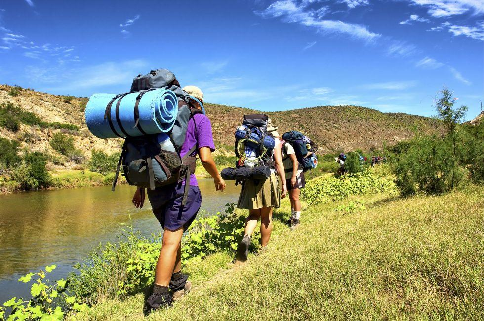 Hikers, The Langeberge Highlands, The Western Cape, South Africa