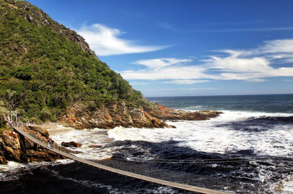 Suspension Bridge, Storms River, Tistsikaama National Park, South Africa