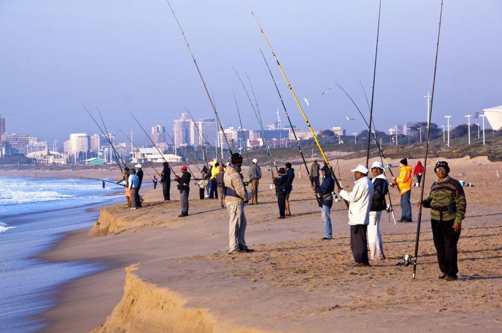 Fishermen, Blue Lagoon Beach, Durban, South Africa