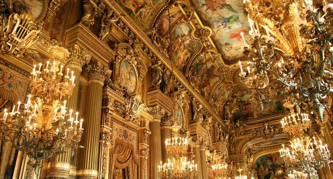 The Grand Foyer, Opera Garnier, Paris, France