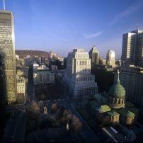 Mount Royal, and the Cathedral Basilica of Mary, Montreal, Canada