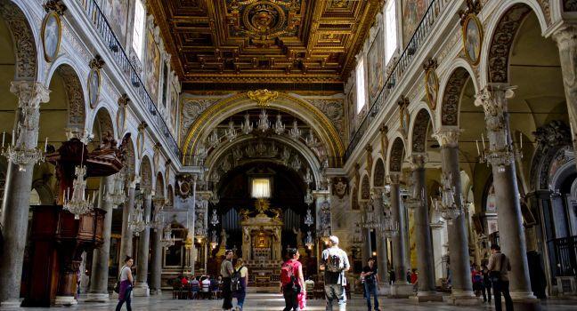 Santa Maria di Aracoeli, Campidoglio, Ancient Rome, Rome, Italy.