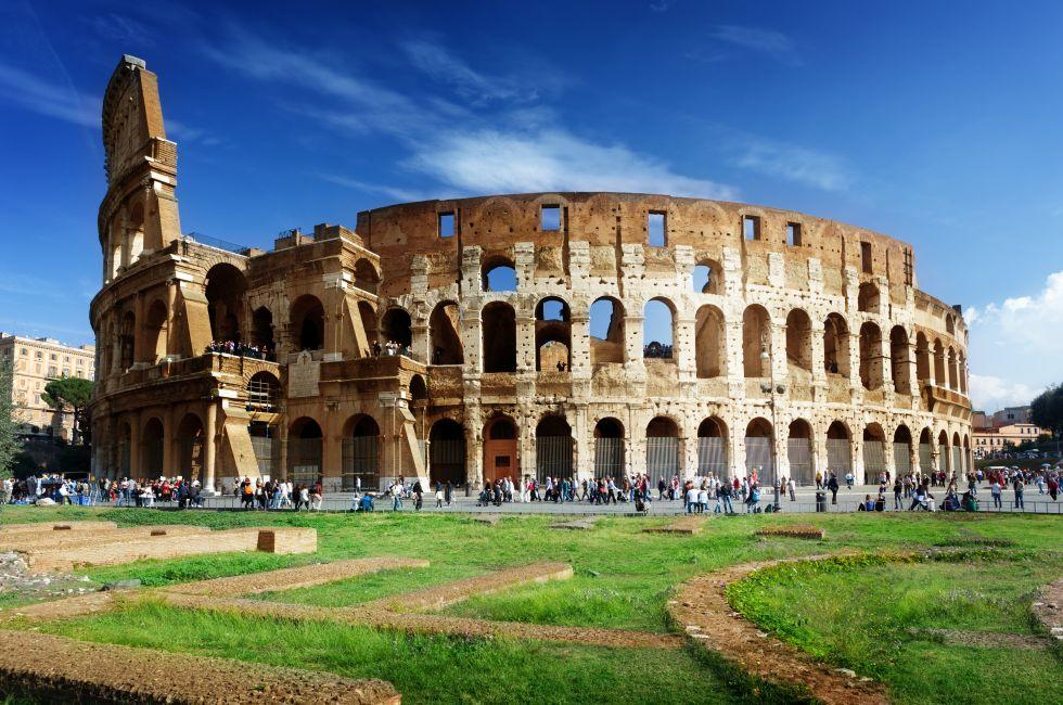The Colosseum, Colosseum and Environs, Ancient Rome, Rome, Italy.