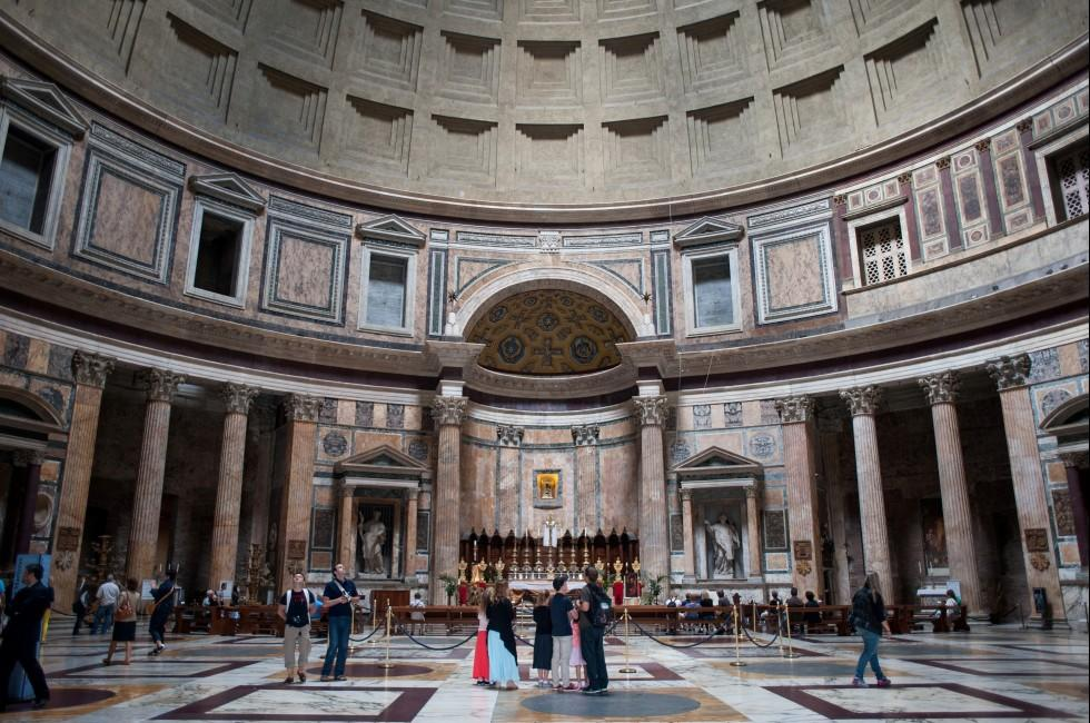 Interior, Pantheon, Rome, Italy