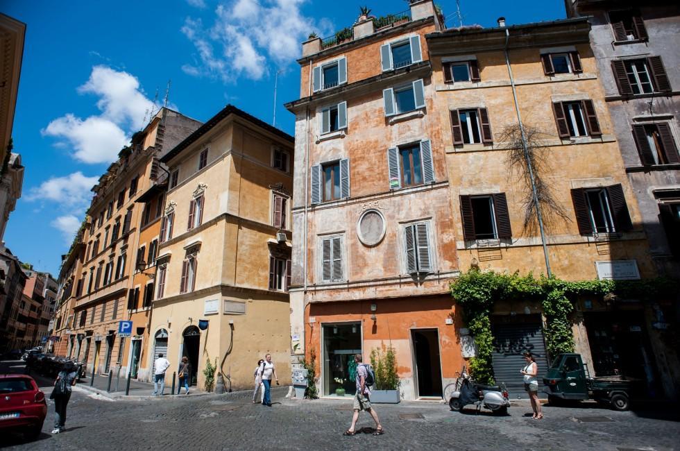 Street, Via Giulia, Rome, Italy