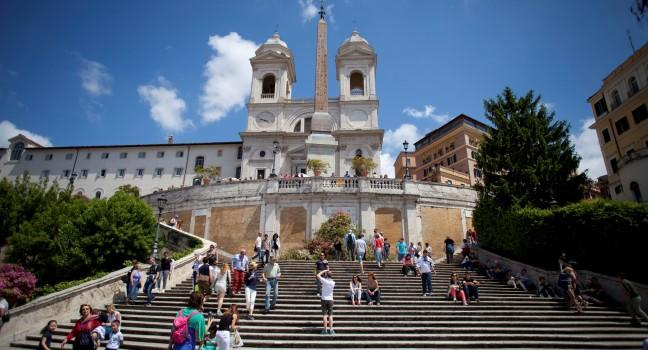 The Spanish Steps, Trinita Dei Monti, Rome, Italy