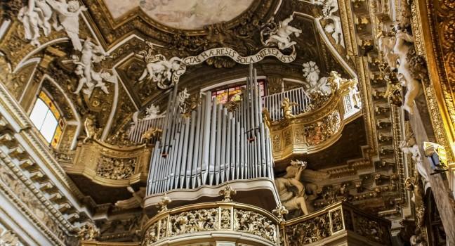 Ceiling, Santa Maria della Vittoria, Rome, Italy