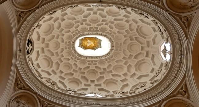 Ceiling, Dome, San Carlo alle Quattro Fontane, Rome, Italy