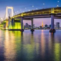 Tokyo Bay, Rainbow Bridge, Odaiba, Tokyo, Japan