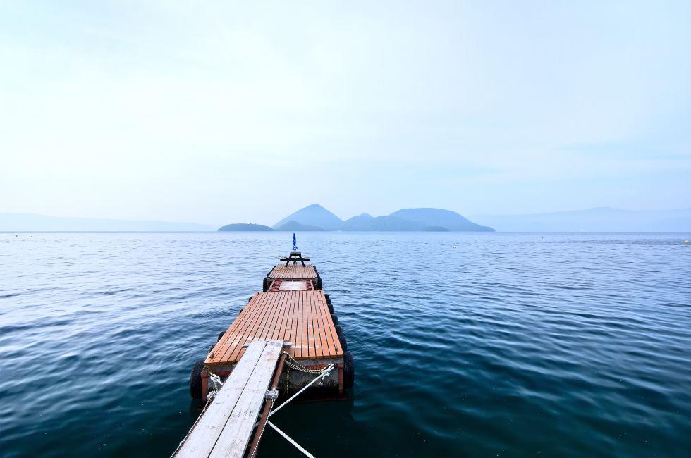Pier, Lake, Japan
