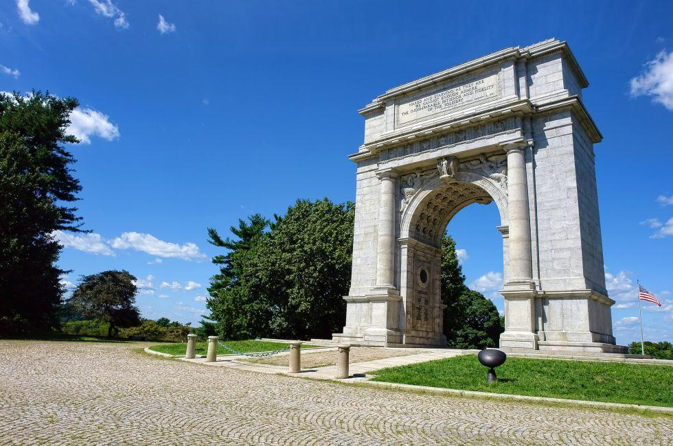National Memorial Arch, Valley Forge National Historical Park, Valley Forge, Brandywine Valley, Pennsylvania, USA.