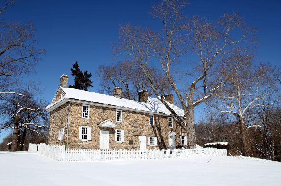 Thompson-Neely House, Washington Crossing State Park, Washington Crossing, Bucks County, Pennsylvania, USA.