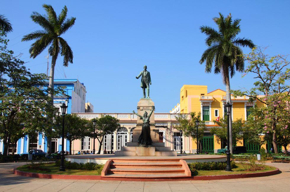 Jose Marti Statue, Main Square, Matanzas, Cuba