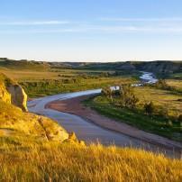 Little Missouri River, Theodore Roosevelt National Park, Medora, North Dakota, USA