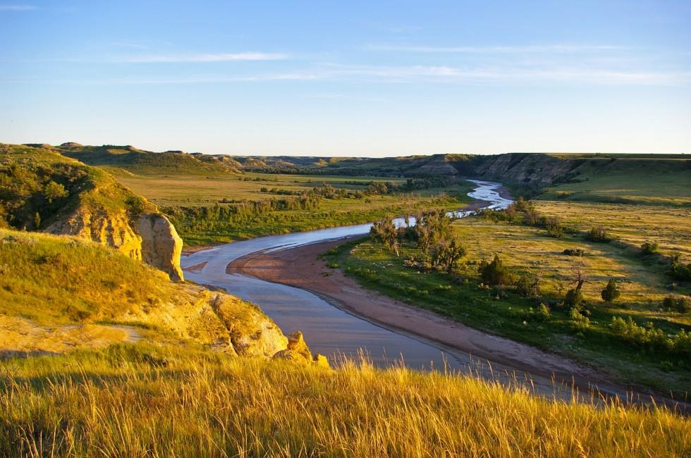 Little Missouri River, Theodore Roosevelt National Park, Medora, North Dakota, USA