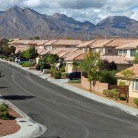 Homes, Summerlin and Red Rock Canyon, Las Vegas, Nevada, USA