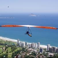 Hand glider, Coast, Rio de Janeiro, Brazil