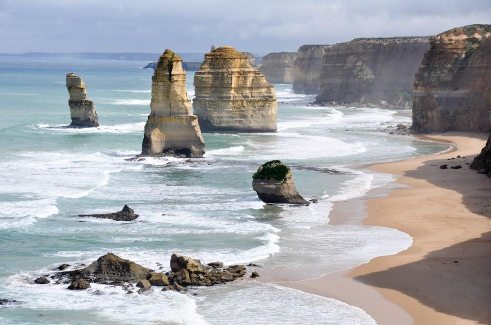 Twelve Apostles; Coastline, Great Ocean Road, Victoria, Australia