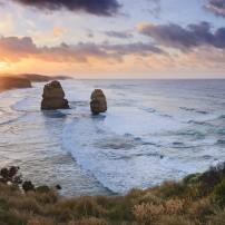 Twelve Apostles; Sunrise, Coastline, Great Ocean Road, Victoria, Australia
