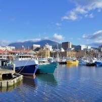 Boats, Harbor, Cityscape, Skyline, Hobart, Australia