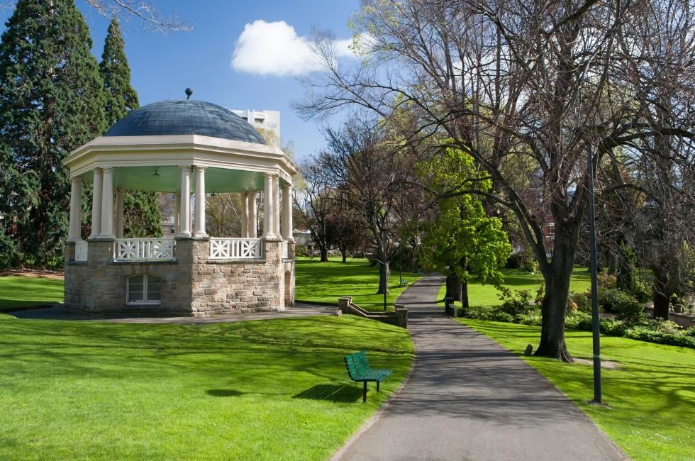 Gazebo, Path, Saint David's Park, Hobart, Australia