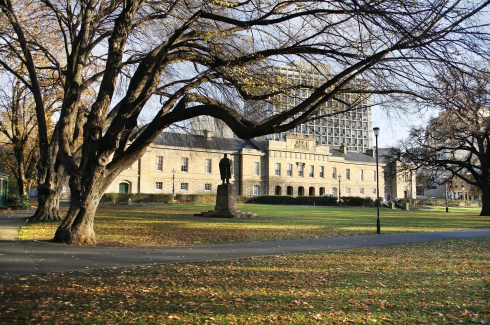Statue, Tasmanian Parliament House, Hobart, Australia