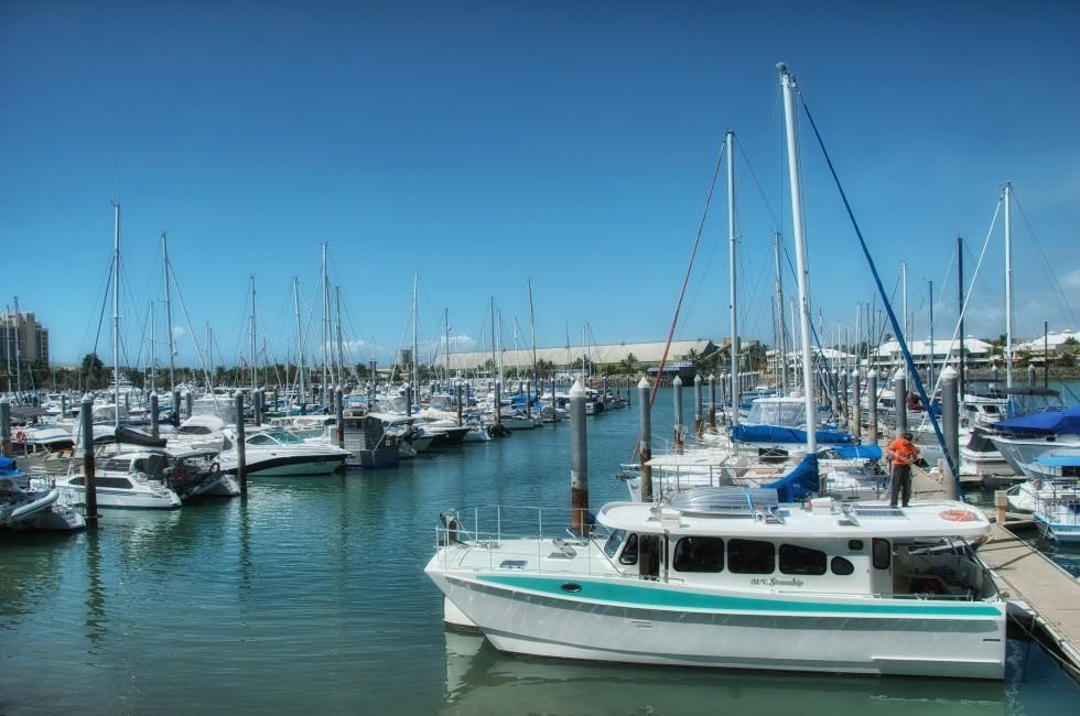 Boats, Marina, Townsville, Great Barrier Reef, Australia