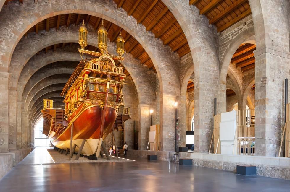 Ship, Museu Marítim, Barcelona, Spain