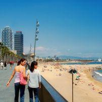 Beach, Barceloneta Beach, La Ciutadella and Barceloneta, Barcelona, Spain