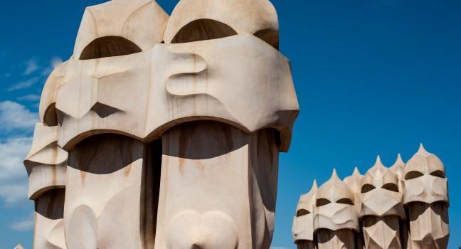Chimneys, Casa Mila, Barcelona, Spain