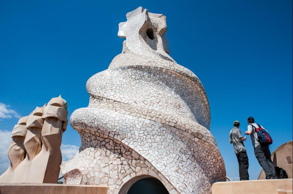 Gaudi, Casa Mila, The Eixample, Barcelona, Spain