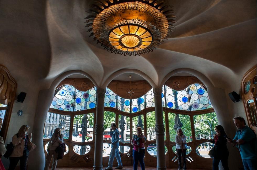 Interior, Casa Batllo, Manzana de la Discordia, Barcelona, Spain