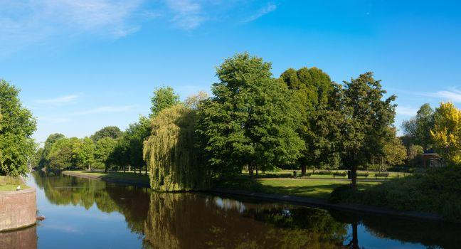 Canal, Westerpark, Amsterdam, Holland