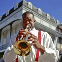 Trumpet Player, French Quarter, New Orleans, Louisiana, USA