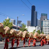 Dragon, International District, Seattle, Washington, USA