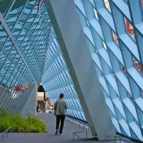 Library, Geometrical Walkway, Downtown, Seattle, Washington, USA