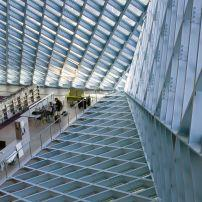 Lobby, The Seattle Public Library, Seattle, Washington, USA