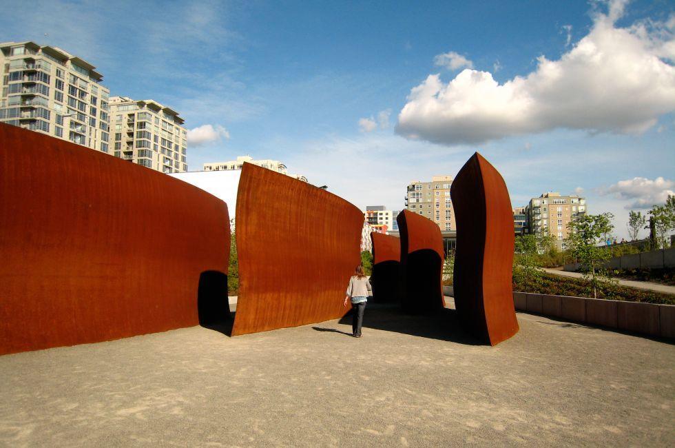 Sculpture, Belltown, Seattle, Washington, USA